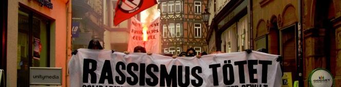 Gemeinsam gegen Rassismus, Rechten Terror undFaschismus!