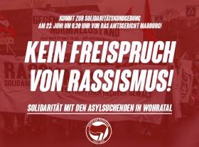 Kundgebung: Kein Freispruch vonRassismus!