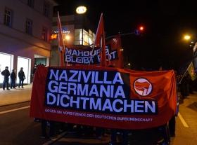 500 auf Demo gegen NazivillaGermania