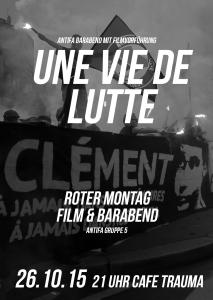 DER ROTE MONTAG #5 // FILM- UND BARABEND: UNE VIE DELUTTE