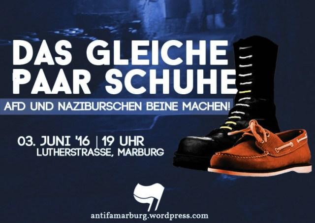 Am 03.06. - AfD und Naziburschen Beine machen!